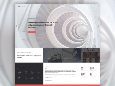 Altius | One Page Architecture Template architecture webdesign website template html