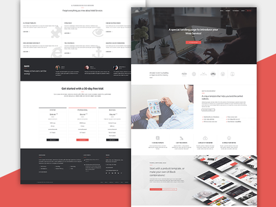 Altius Web Service Landing Page themeforest one page single page web design app landing page