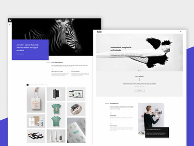 Gem - A Minimalist Template for Professionals themeforest parallax photography architecture portfolio creative web design minimal