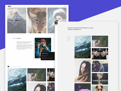 Gem - A Minimalist Template for Photographers single page parallax scroll photography website template webdesign minimalist