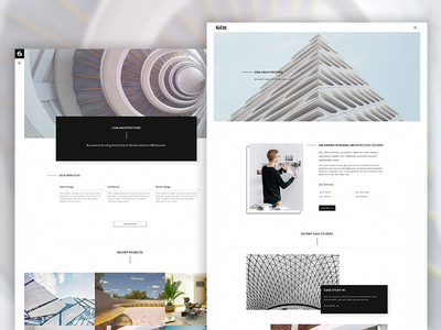 Gem - A Minimalist Template for Architects themeforest parallax photography architecture portfolio creative web design minimal