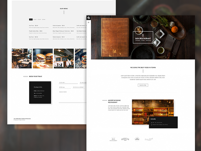 Gem - A Minimalist Template for Restaurants restaurant minimal web design creative portfolio architecture photography parallax themeforest single page one page