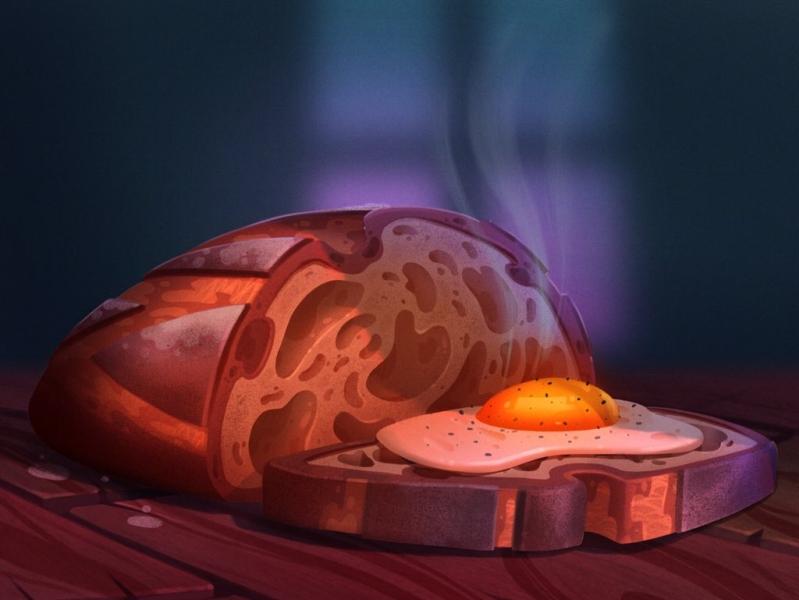 Fresh Bread bread drawing painting digital painting prop illustration