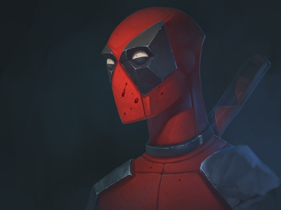 Deadpool character design photoshop wacom digital digital art digital painting 2d illustration fanart comics marvel deadpool