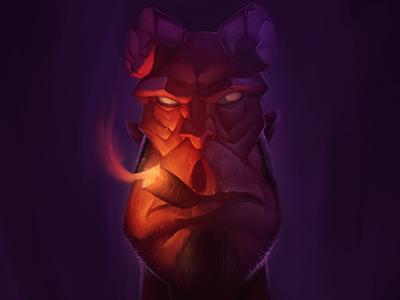 Hellboy intuos adobe digital painting digital dark horse comics comicbook hellboy character design character illustration