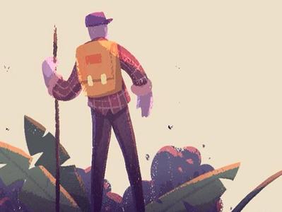 John Muir Quote environment digital character character design digital painting illustration