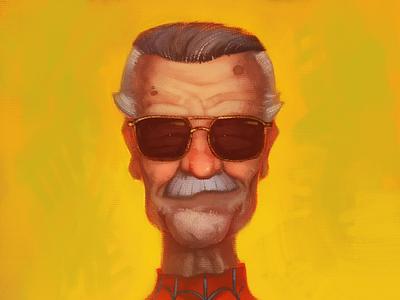 Stan Lee superhero marvel stan lee characterdesign portrait character illustration