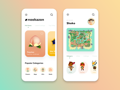 Animal Crossing • Creative Concept concept ios mobile app design minimal ux app ui design animal crossing