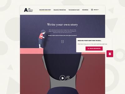 ACEs Number Story campaign design campaign aces elementor wordpress website ux ui design illustration web design