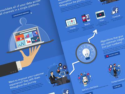 Platform Page Creative Concept blue illustration flat page layout ui ux web website platform technology