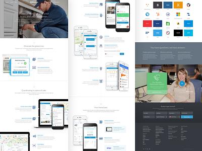 Dispatch Product Walkthrough marketing tour story walkthrough tech startup green blue website web design ui branding