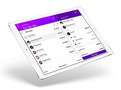 Nightpro on iPad: Reservation and Order View app design management event details order white label ui design ipad ios tablet ux ui