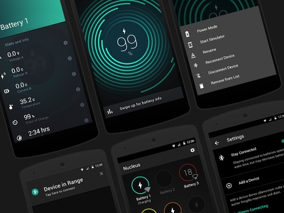 Battery Monitoring & Performance Android Application stats chart analytics data user interface material design material ui design app android ux ui