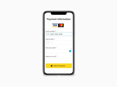 Daily UI#02 [ Credit Card CheckOut ]