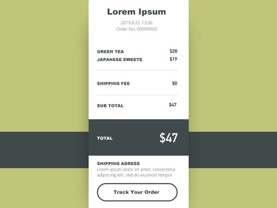 Daily UI#17 [ Email Receipt ]