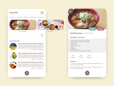 Daily UI#40 [ Recipe ]