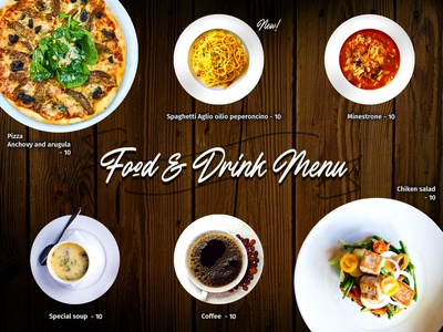 Daily UI#43 [ Food/Drink Menu ]