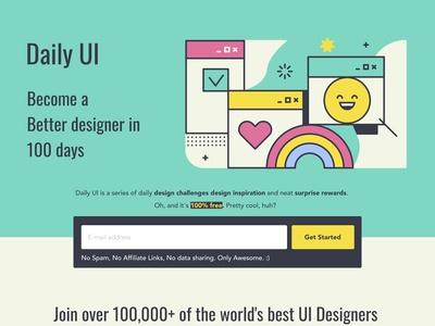 Daily UI#100 [ Redesign Daily UI Landing Page ]