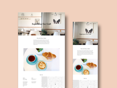 Flat White Coffee Responsive Website