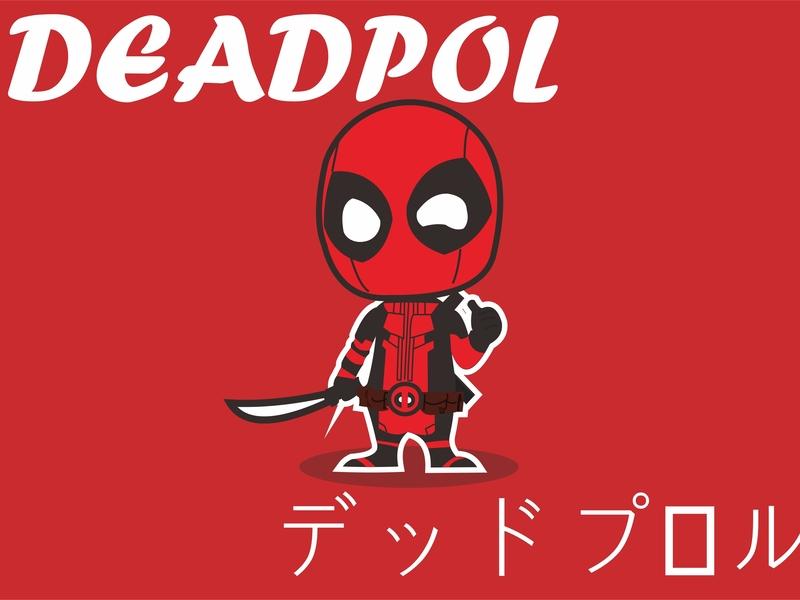 Deadpool Chibi vector illustrator vektor illustration coreldrawx7 coreldraw adobe illustrator adobe