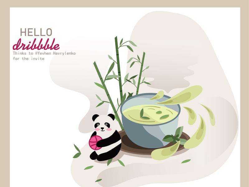 Hello Dribbble flat animation design illustration