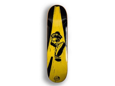 Mongo clean illustration graphicdesigner new original designer yellow artwork design deckart skateboard skater art