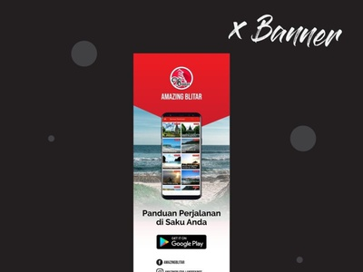 X Banner Amazing Blitar App for Tourism Guide banner ads banner small banner designer banner design banner design banner app design banner app tourism guide amazing blitar x banner design x banner