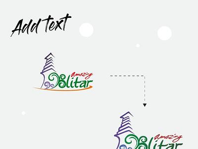 Amazing Blitar Add Text Logo logo designs temple logo amazing blitar logo branding amazing blitar logodesign logos logo design logo