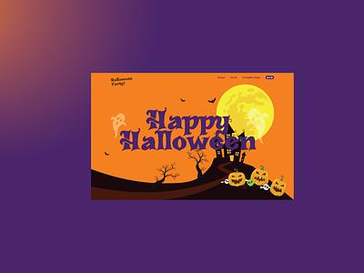 Halloween Party Web Design 2019 ui ux website design web website ui ux design ux design ui design web design halloween party web halloween web halloween party halloween
