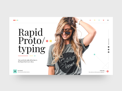 Rapid Prototyping 1   Top menu with icons photoshop adobe lettering type flat web app branding ux typography ui design