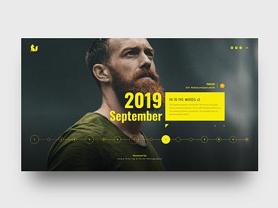 Rapid Prototyping 2   TV Program Timeline home page website webdesign typography timeline template simple profile minimal design clean bootstrap