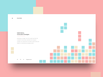 Rapid Prototyping 3   Eduzone Consulting animation website webdesign brick game simple typography flat design branding app adobe