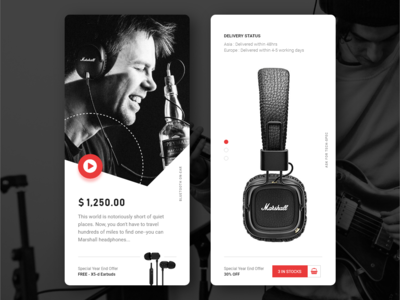 Prototypes for a headphone shop