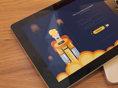 Educational app design for a local development firm.