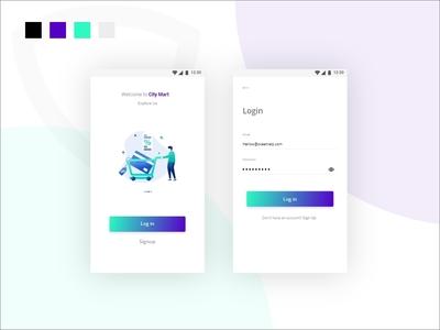 Minimal Launch Screen and Login