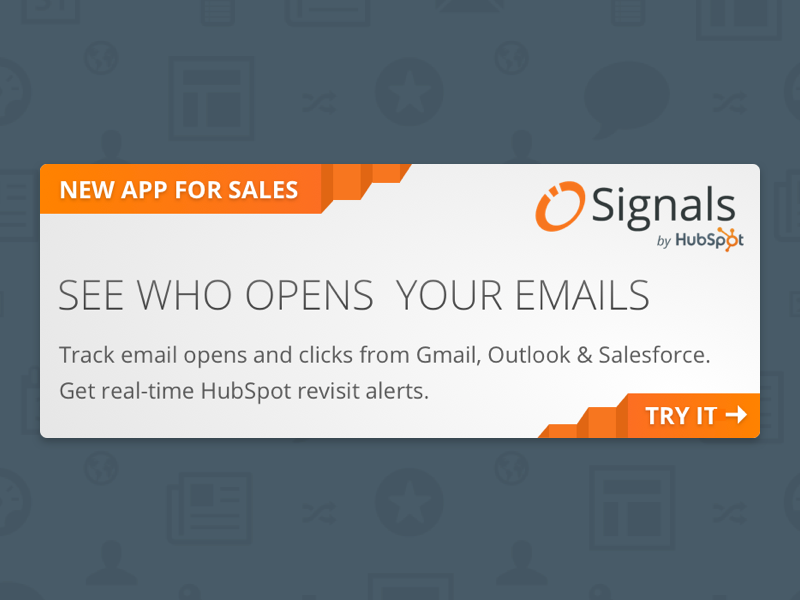 Signals CTA by David Oates for HubSpot on Dribbble