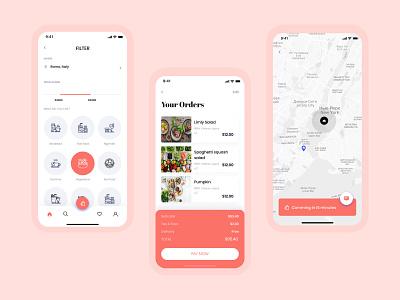 Food Delivery App Concept logo branding ui illustration creative design weekly warm-up dribbble