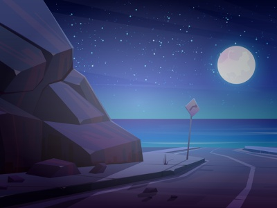 Night illustrate a peaceful - Weekly Warmup vector illustration creative weekly warm-up dribbble