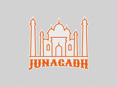 Junagadh Sticker - Weekly Warm-Up weekly warm-up dribbble junagadh