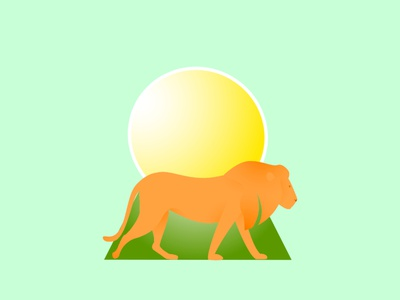 Hello Dribbblers! I am happy to design new warm-up! THE LION icon weekly warm-up dribbble