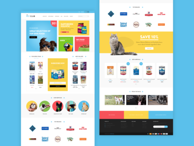 Pet Shop Website Design Concept