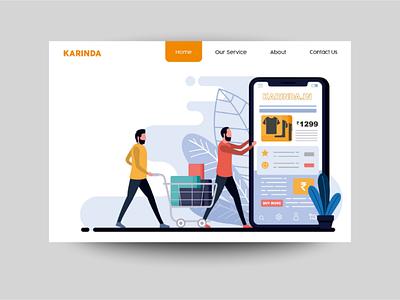 Karinda homepage | Keshav raj graphic design art ecommerce website adobe illustration