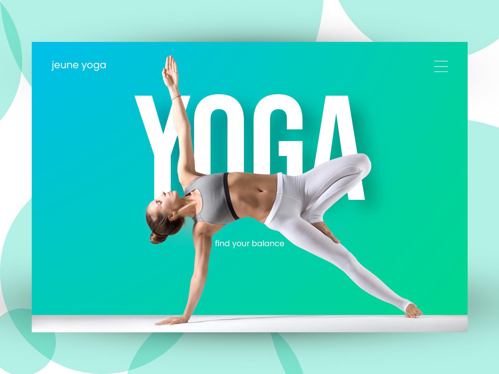 Yoga Banner By Keshav Raj On Dribbble