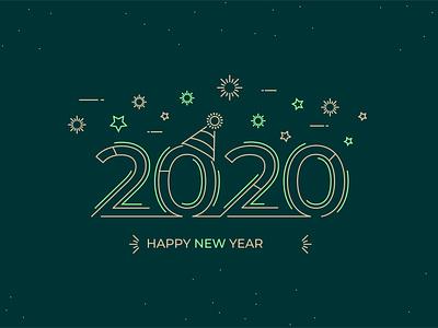 2020 by Designerkeshav dribbble best shot dribbbler new colour vector illustrator photoshop adobe ui dribbble design illustraion happy new year trend 2020