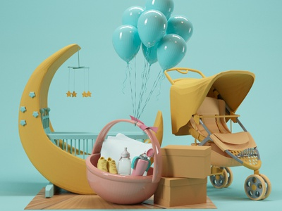 Baby Blue baby modeling illustraion graphicdesign cinema4d 3d art 3d