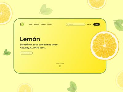 Website UI Concept lemon ui website ui concept website ui website design ui design neumorphic neumorphism ui ux design branding