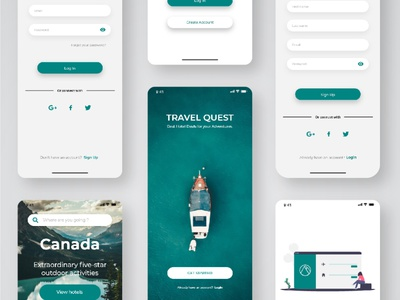 Travel Suggestion App UI Design ux ui ios app design android app design app design uiux ui design uidesign travelling travel app