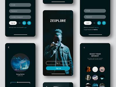 Music App UI Design music app design music app ui music app ux uiux ui design uidesign ui ios app design app design android app design