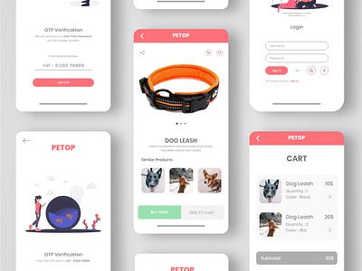 Pet Shop UI Design pet shop app ecommerce app petshop uidesign ios app design app design android app design