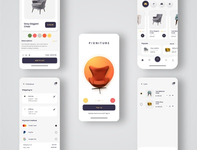 Furniture App UI design furniture design furniture app ecommerce app uiux uidesign ios app design app design android app design